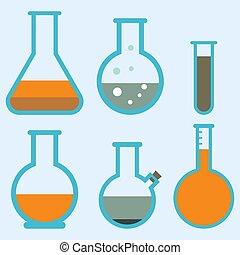 Lab flask test medical laboratory scientific biology design...