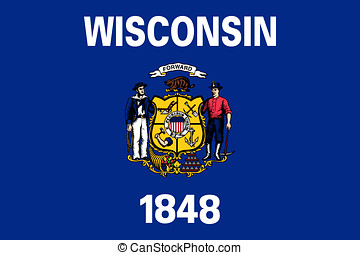 Flag of Wisconsin - Illustration of the flag of Wisconsin...