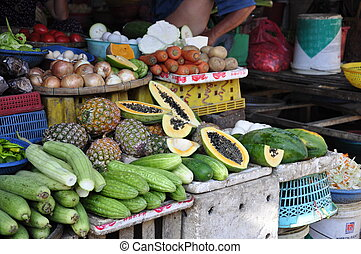 Vegetables for sale on the market in Hoi-An, Vietnam