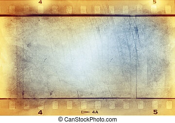 Film strips background - Film negative frames background
