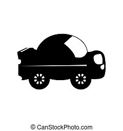Isolated car toy silhouette