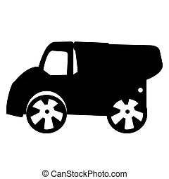 Isolated truck toy silhouette