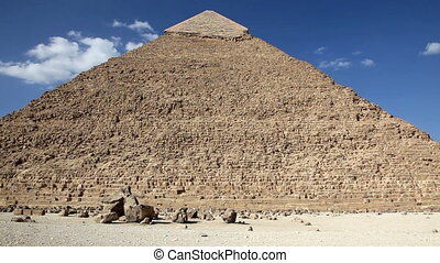 Great Pyramid in Giza Egypt - Great Pyramid with People in...