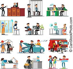 Colorful Professions And Occupations Collection - Colorful...