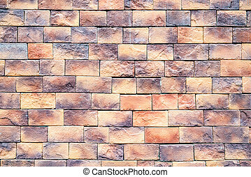 Colorful brick wall background.