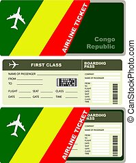 Flight trip for a flight to Congo Republic