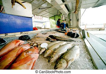 The fish market in Bergen, Norway
