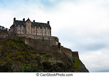 Edinburgh Castle view with copy space, Scotland