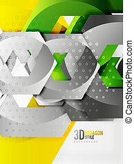Vector 3d hexagon background - Vector 3d effect hexagon...