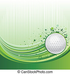 golf sport background - vector illustration of golf sport