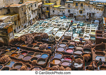 Tannery in Fez, Morocco