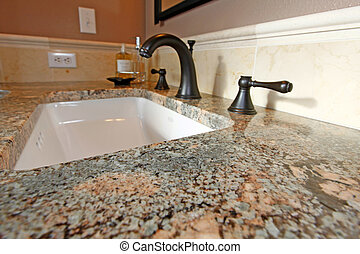 Bathroom sink - Granite countertops