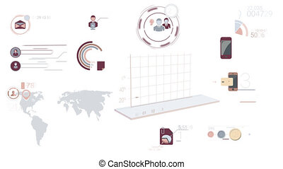 Corporate Infographic Elements With Alpha Channel -...