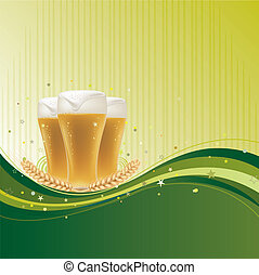 design background for beer - beer design element with wave