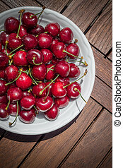 Cherries in the plate