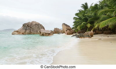 Anse Patates, La Digue, Seychelles - Beautiful beach Anse...