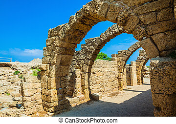 Vaulted ceilings of stalls ancient times - National park...