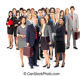 Business people - Group of business people Isolated over...