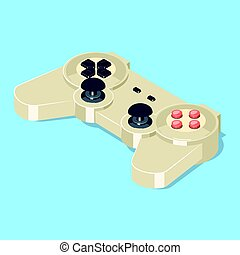 Video game gamepad controller