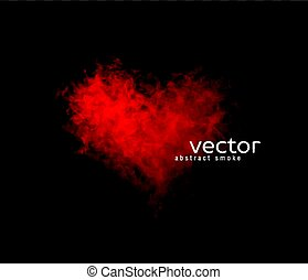 Vector illustration of smoky heart. Isolated transparent...