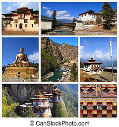 Impressions of Bhutan, Collage of Travel Images