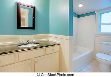 Modern bathroom - new remodeling in an old house