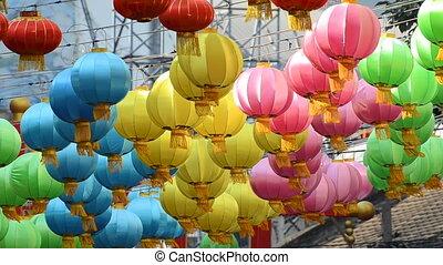 chinese lantern lamp - Beautiful colorful chinese lantern...
