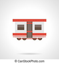 Passenger rail transportation flat vector icon