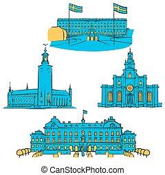 Stockholm Colored Landmarks