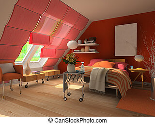3d  rendering bedroom