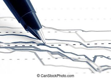 grafici, finanziario, analisi