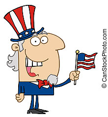 Energetic Uncle Sam Smiling