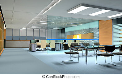 3D rendering of a Conference room - 3D rendering of an empty...