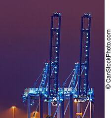 Quay Cranes - Container cranes in the Port of Rotterdam...