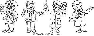 Science professions coloring book set - Coloring book set of...