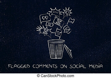 bin with negative content on social media getting deleted -...