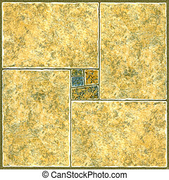 Ceramic Flooring Tiles as Seamless