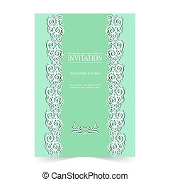 Invitation card, wedding card with ornamenta background -...