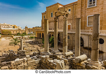 Roman Cardo Maximus ruins Beirut Lebanon - Roman Cardo...