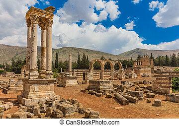 Ruins of the Umayyad Aanjar (Anjar) Beeka Lebanon - Ruins of...