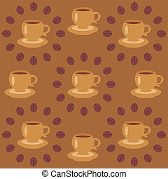 background with cups of coffee