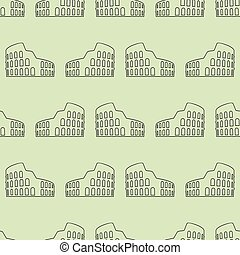 Vector seamless pattern with coliseum - Simple illustration...