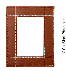 frame edges brown leather - leather frame for painting or...