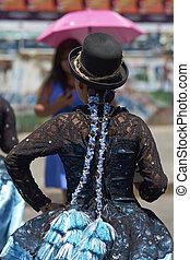 Morenada dancer at the Arica Carnival