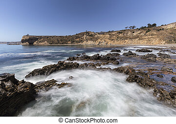 Tidal Pool Motion Blur at Abalone Cove Shoreline Park in...