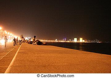 marinho, conduzir, Mumbai, Índia
