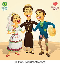 Typical brazilian June Party wedding - Made in Brazil - Made...