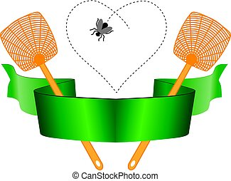 Fly and fly swatter