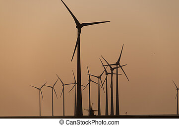 The Old and the New in wind turbine technology - Contrast...