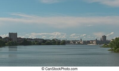 Kazan, Russia - kaban lake - summer city landscape,...